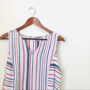 ArtisanNY•Linen Boho Striped Dress-P